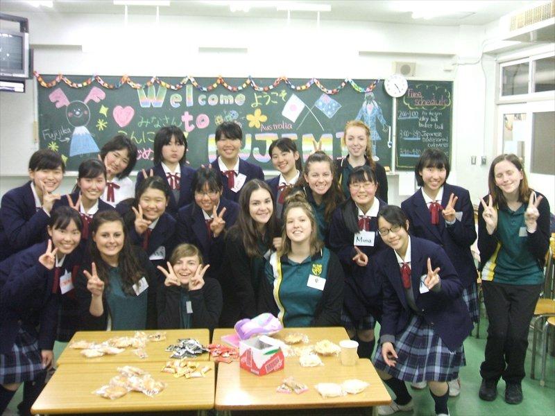 グローバル教育・オーストラリアの高校生が来校した際の様子