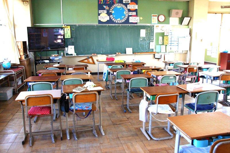 子どもたちが普段学んでいる教室の風景