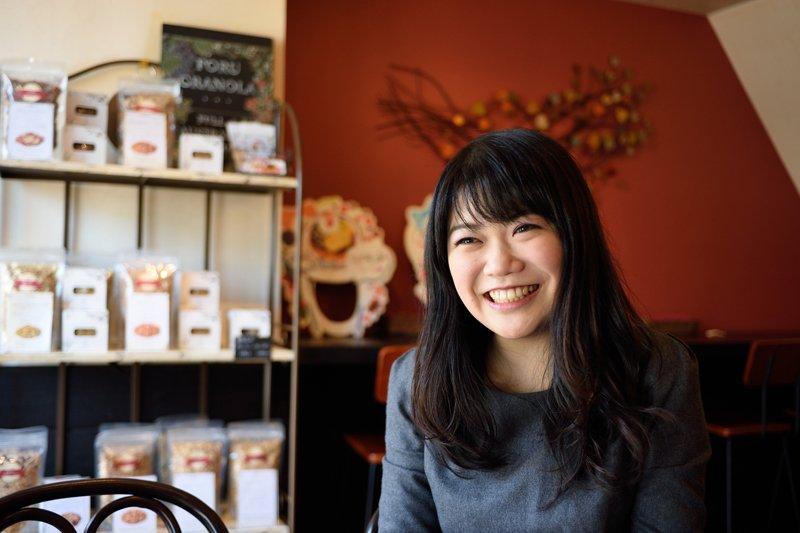 「ForuCafe」を経営する平井幸奈さん
