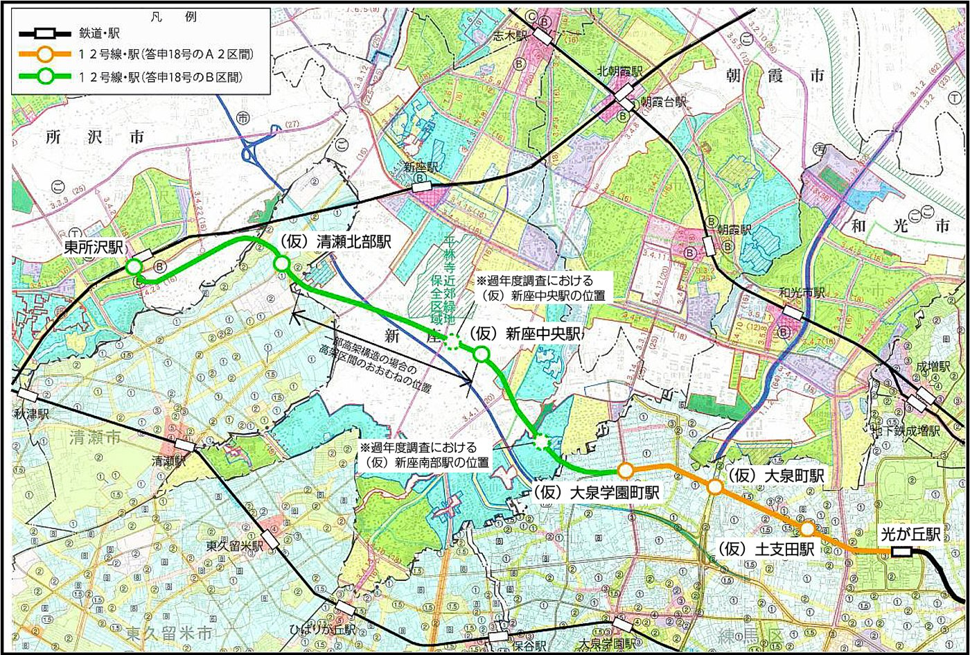 都営地下鉄大江戸線の延伸構想