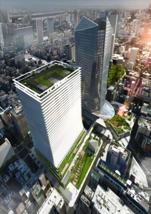虎ノ門一丁目地区第一種市街地再開発事業 完成予想図
