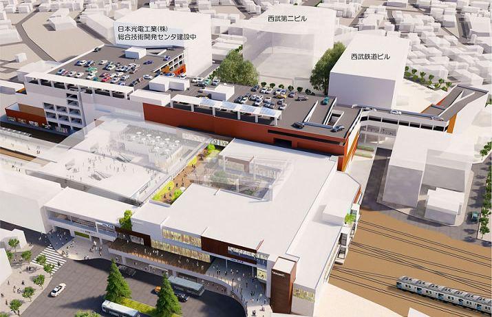 「所沢駅東口駅ビル計画」完成イメージ画像※外観(西口方面から望む)