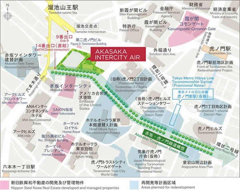 赤坂インターシティAIR周辺図