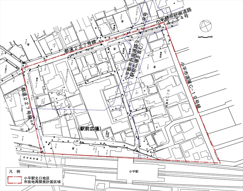 再開発の計画区域図