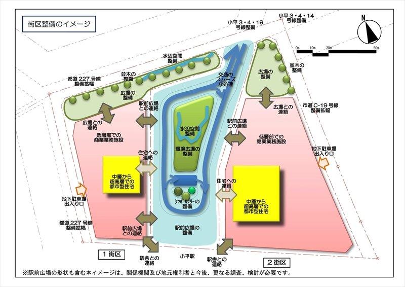 街区整備のイメージ図