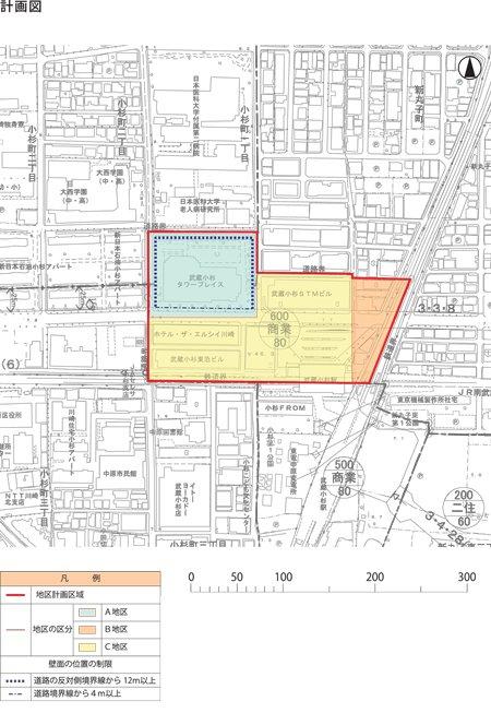 小杉駅北口地区計画