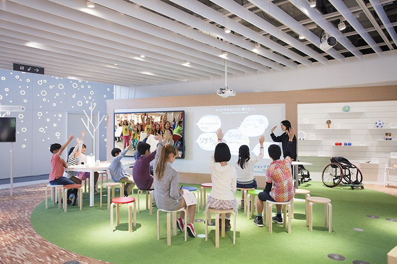 「Active Learning Camp」の「ワークショップ ガーデン」の様子