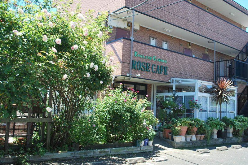 「ENGLISH GARDEN ROSE CAFE」の外観