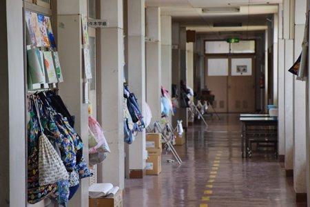 船橋市立坪井小学校 廊下