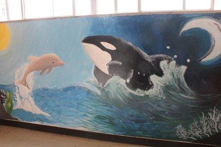 和泉市立光明台中学校 壁画