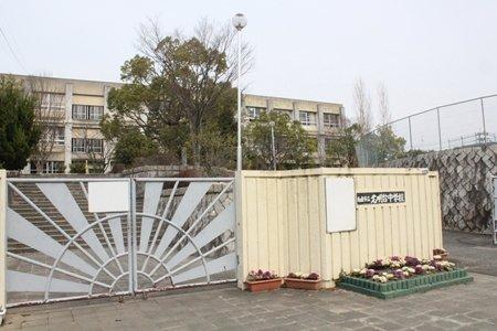 和泉市立光明台中学校 校門