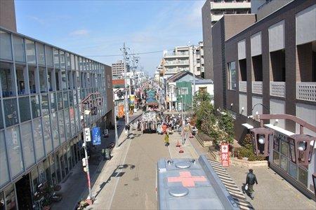 上から見た商店街