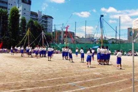 練馬区立貫井中学校 運動会の様子