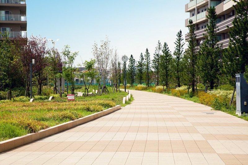 緑豊かで、お散歩コースにもぴったりな「オレンジロード」