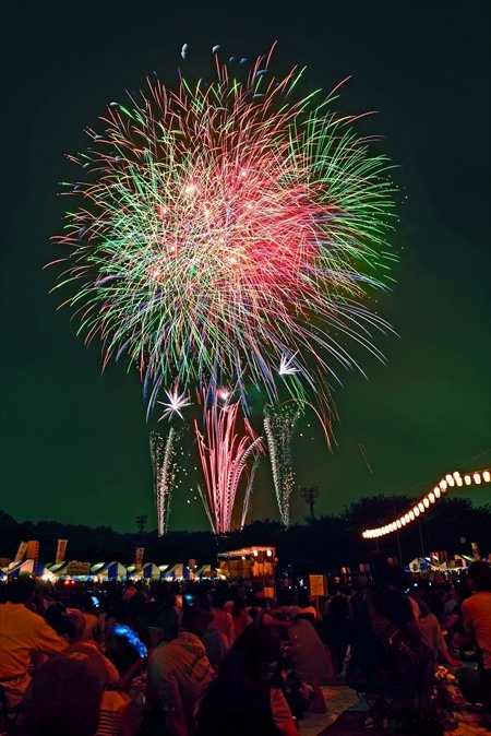 フィナーレの花火(※写真提供三芳町)