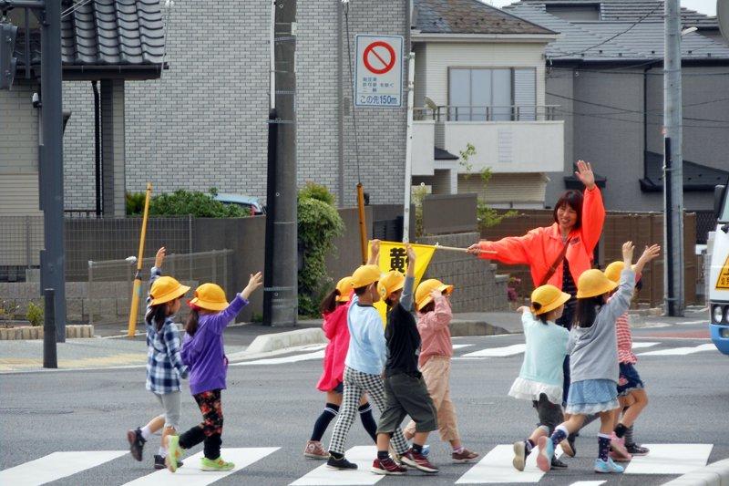 通学時の身守りの様子