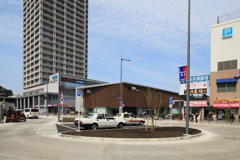再開発で整備された駅前ロータリー