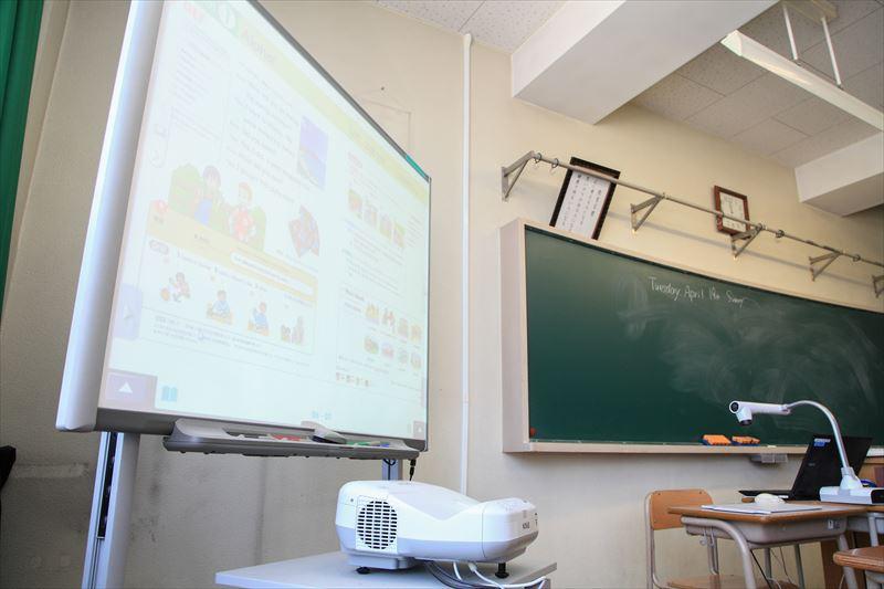 電子黒板を使用した授業