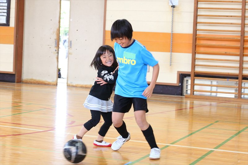 磯辺FC インタビュー 楽しそうな様子の子どもたち