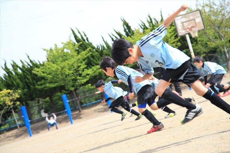 磯辺FC インタビュー 全力で走る子どもたち