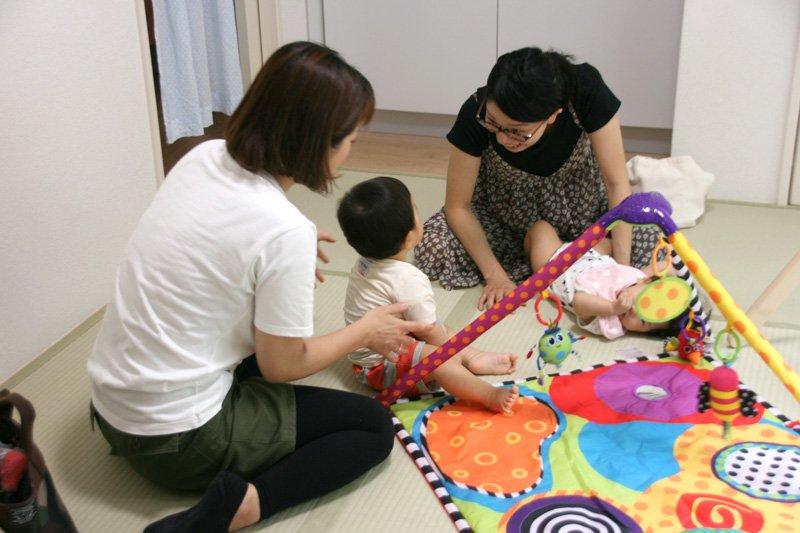 0歳児も安心して遊べる環境