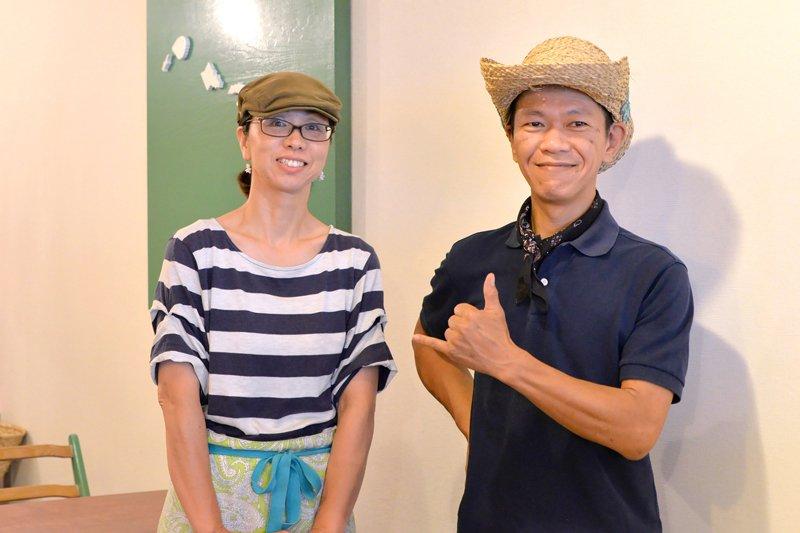 オーナーの飯田さんとスタッフのHamajiさん