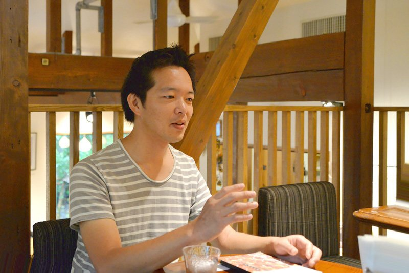 史跡の駅「おたカフェ」を運営する高浜さん