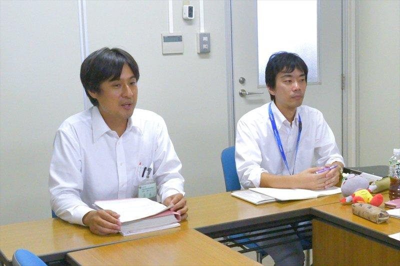 保育幼稚園室 三住さん(左)とシティプロモーション推進室 白澤さん(右)