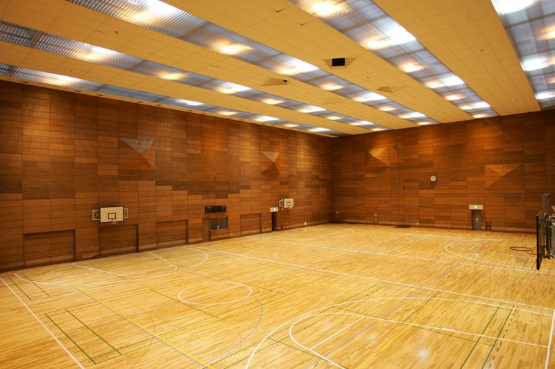 広々とした 第1体育室