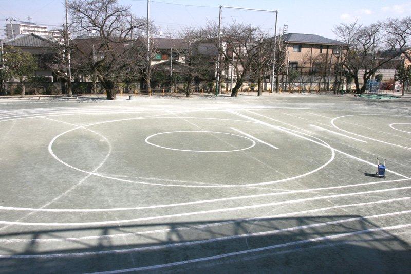 「世田谷区立八幡山小学校」校庭