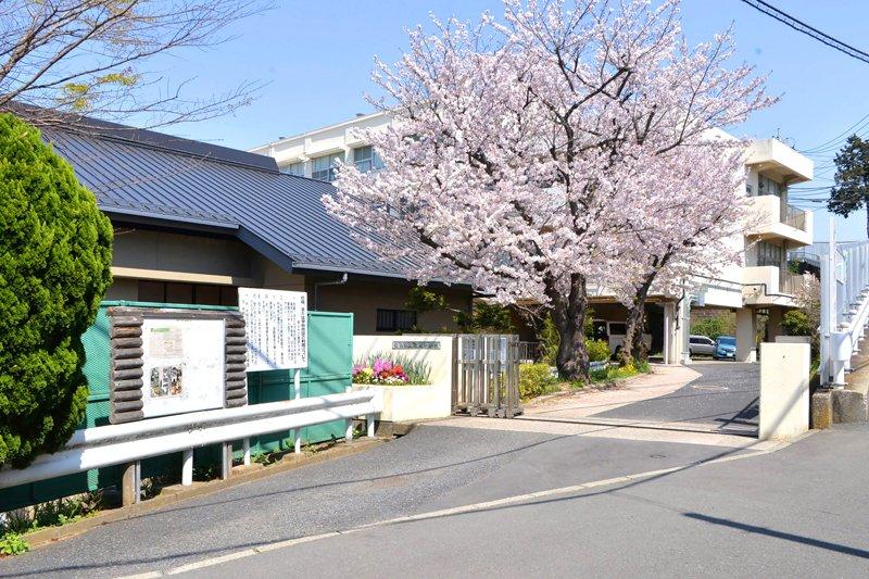 静かな住宅街の中にある学校