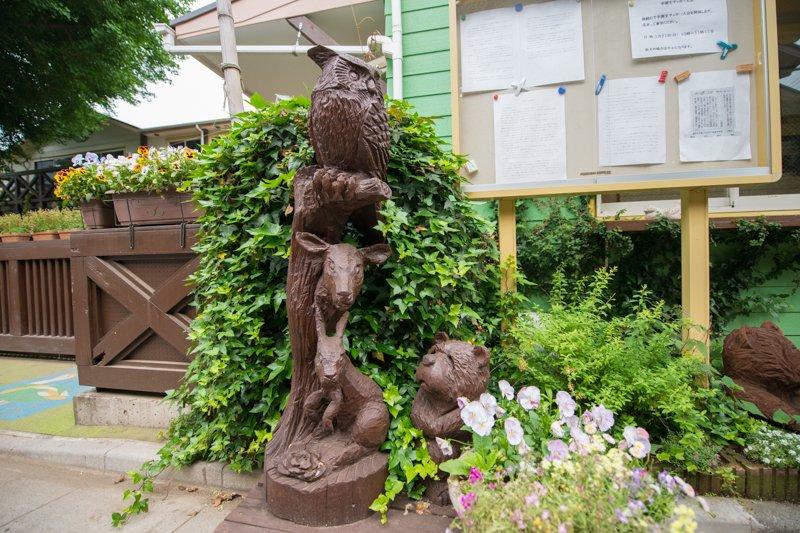 木彫りの動物たち