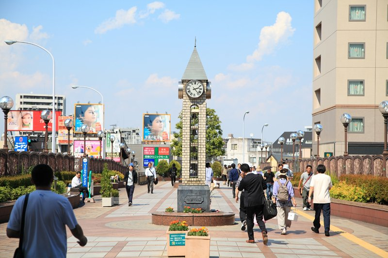 整備された「田端」駅付近の街並み