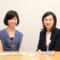 中村真理子さんと加藤千咲さん