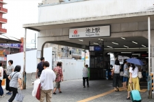 「池上」駅/東京急行電鉄株式会社 中村真理子さん、加藤千咲さん