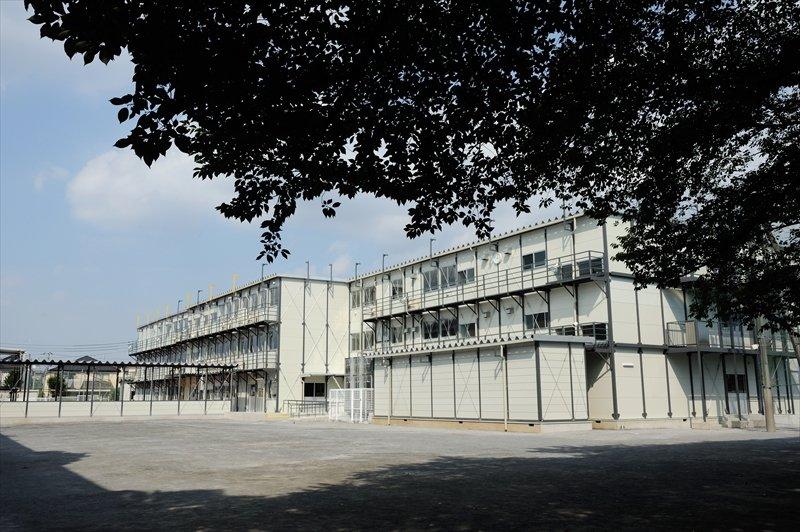 プレハブの仮校舎