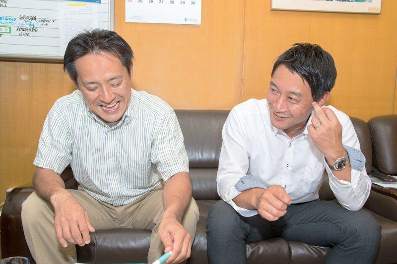 PTA会長の前田さんとおやじの会会長の高木さん