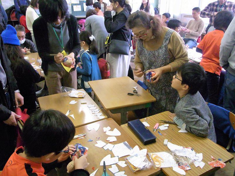岩槻木目込み人形作り体験授業
