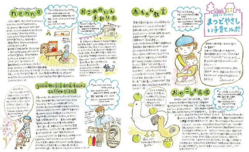 「松戸やさしい暮らしガイド」P17-18 篠澤さんが手掛けた見開き