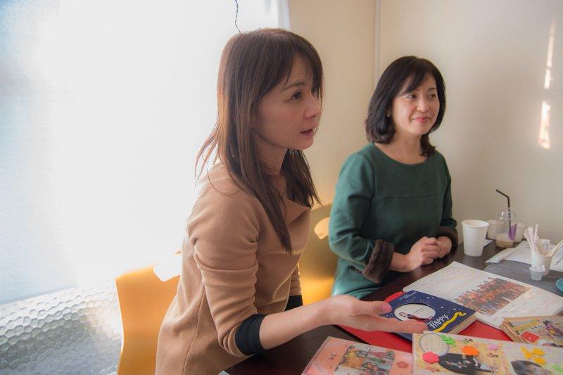 教室の特徴を語る石橋さん