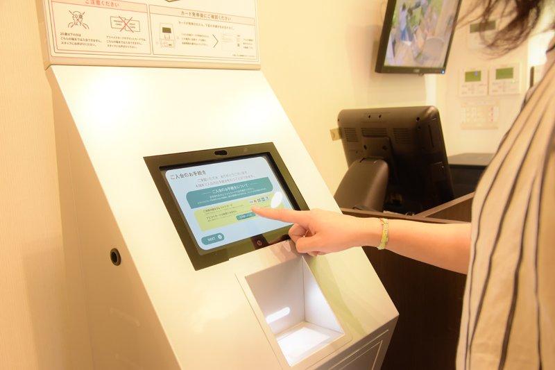 店内にある予約発券機で予約表の発券もスムーズにできる