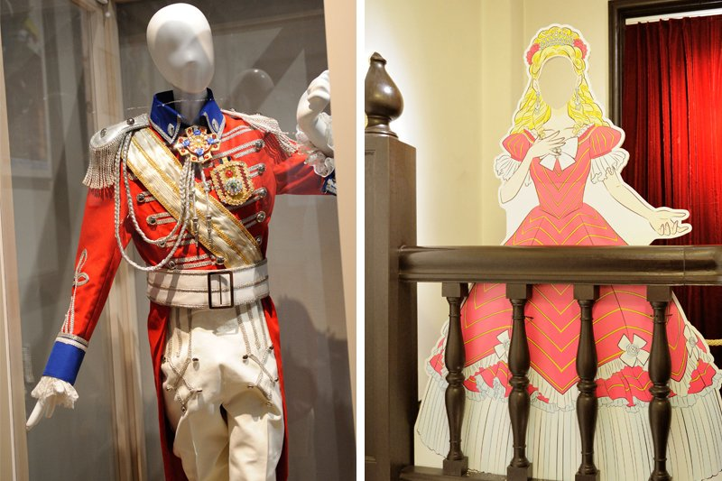 宝塚歌劇団の衣裳展示と顔出しパネル