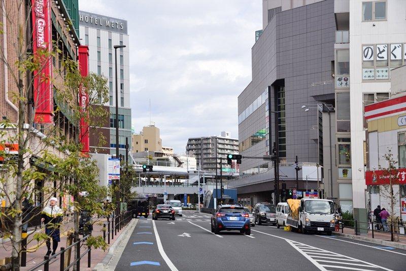 「船橋」駅付近の街並み