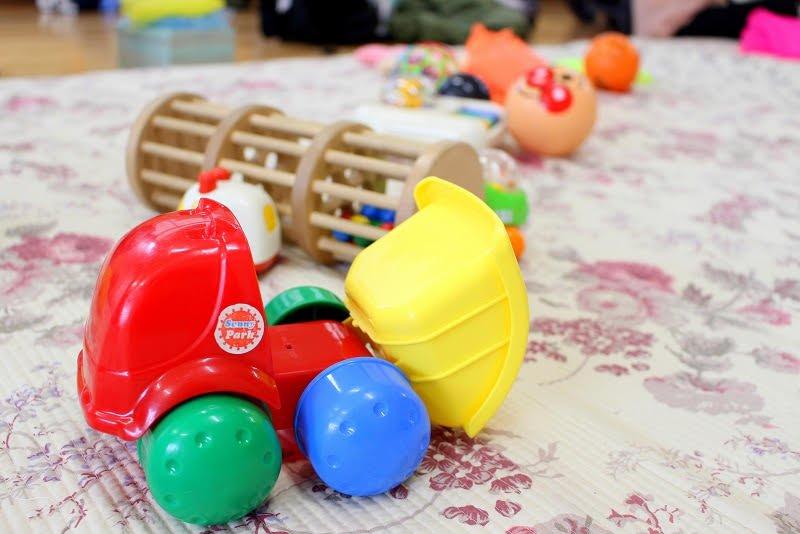 遊戯室のおもちゃ
