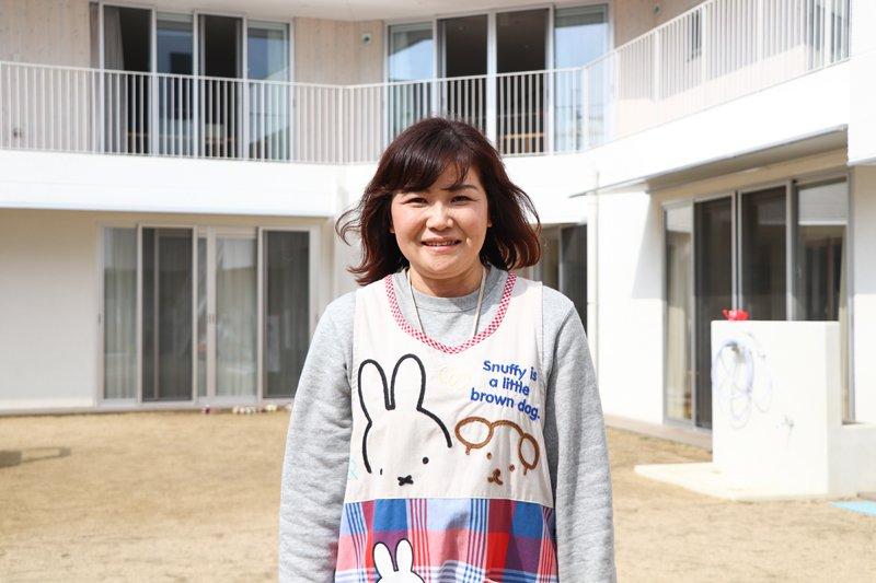 一人ひとりとていねいに関わり、豊かな成長を支える。/トレジャーキッズたかどの保育園 植田伸子先生