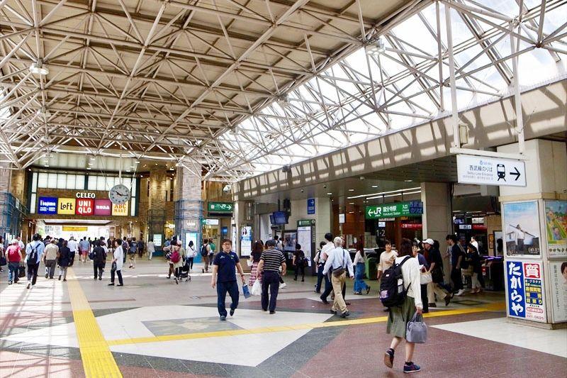 多くの人で賑わう「国分寺」駅