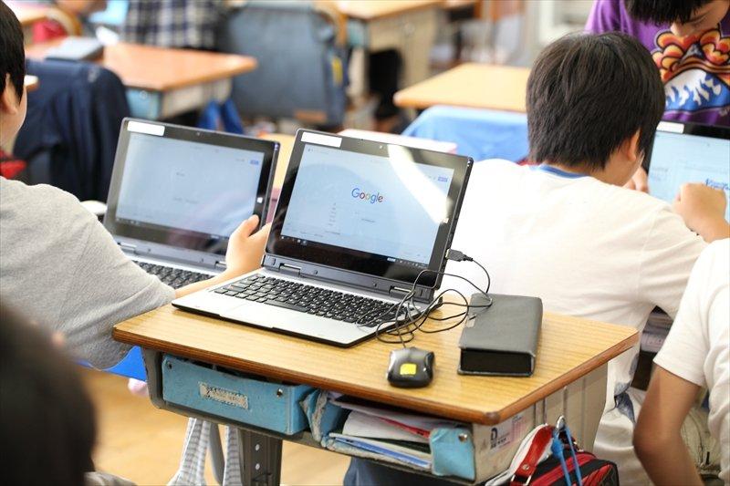 ノートパソコンを利用した授業風景