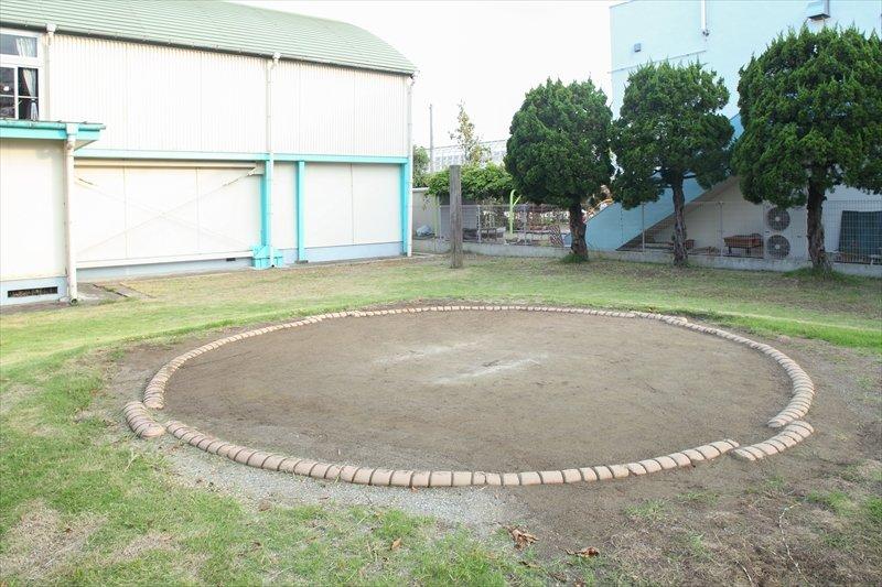 校庭の一角にある土俵