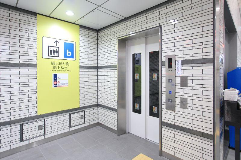 新たに設置されたエレベーター