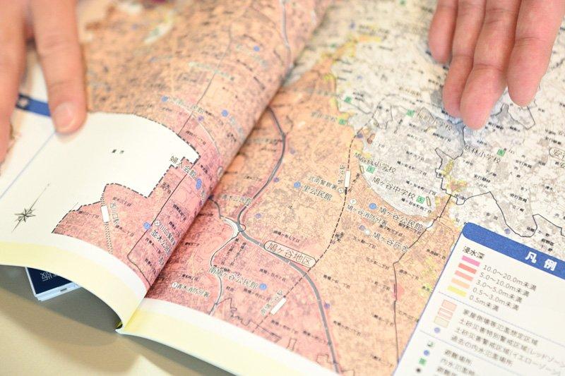 川口市のハザードマップ